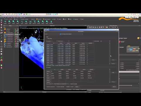 RealFlow 2015 Features: Spreadsheets