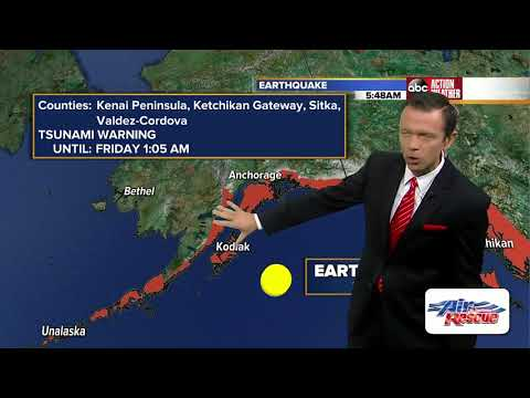 Magnitude 8.2 earthquake strikes Alaska, tsunami warning issued for US West Coast