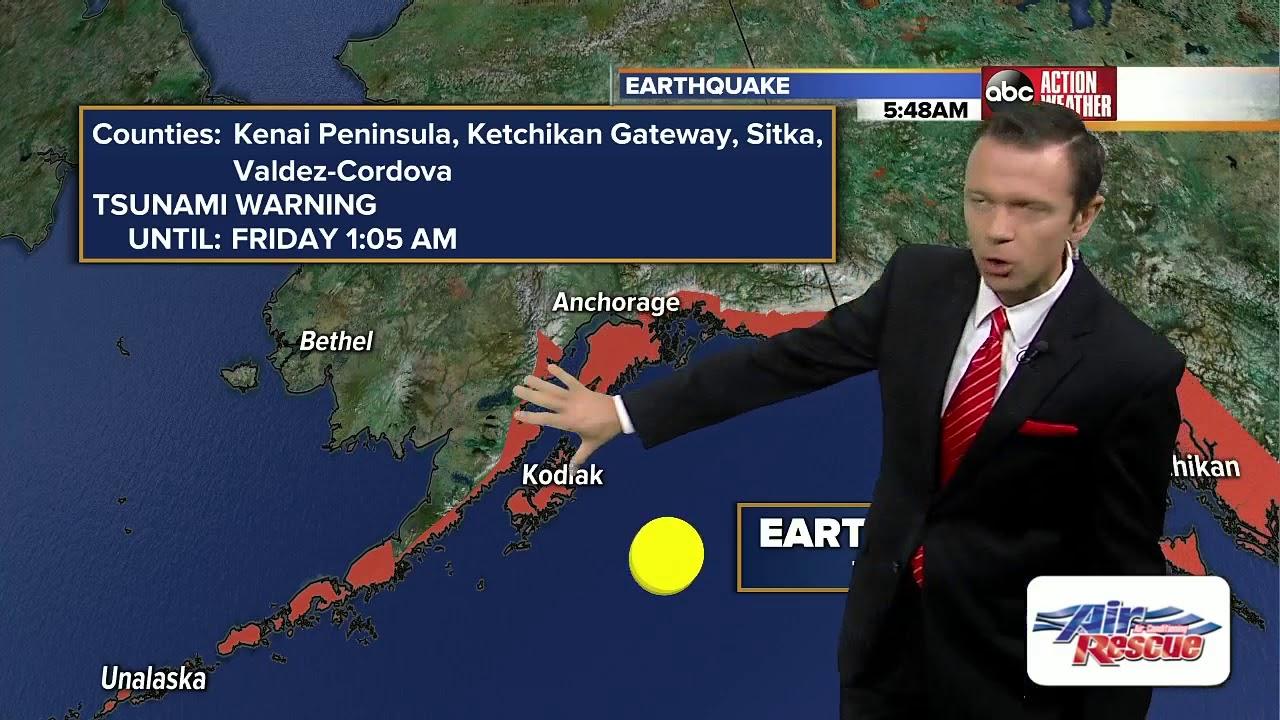 Tsunami alerts cancelled after 8.2 magnitude earthquake off Alaska ...