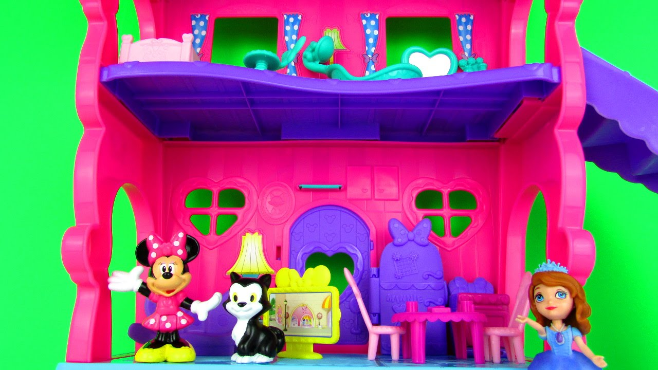 Disney Junior Minnie Mouse Minnie S House Playset Fun Toy Review Unboxing Fisher Price