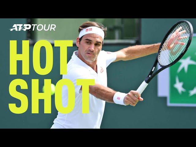 Hot Shot: Federer's Fantastic Dropper Stops Thiem In His Tracks Indian Wells 2019