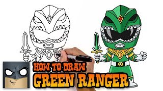 How to Draw Green Ranger | Power Rangers