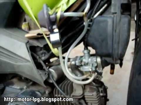 Konverter Kit LPG pada Sepeda Motor #1 - YouTube