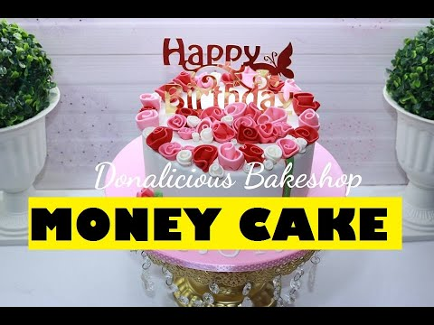 Filipino How To Make No Fail Money Cake Part 2 Easy Way To Cover Cakeboard