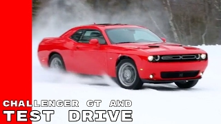 2017 Dodge Challenger GT All Wheel Drive AWD Review, Test Drive, Interior