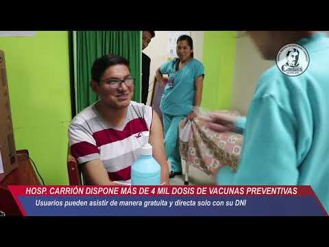 HOSPITAL CARRIÓN DISPONE MÁS DE 4 MIL DOSIS PARA VACUNAS PREVENTIVAS