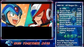 洛克人X6 / Mega Man X6 All Stages Unarmored X (Normal) speedrun in 1:27:54  (IGT : 0:55:09)