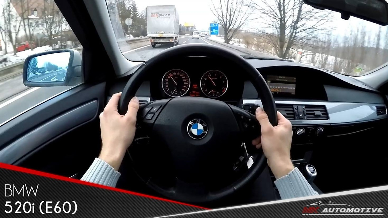 Bmw 520i E60 Pov Test Drive Acceleration 0 180 Kmh Youtube
