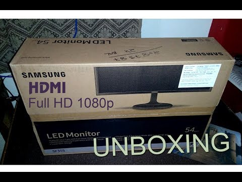 Samsung 22 inch LED Full HD Monitor with Super Slim Design - LS22F355FHWXXL - Unboxing Full Review