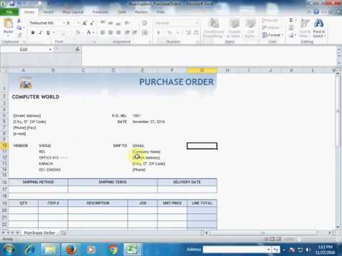 Excel Tips (How to Create PO / Purchase Order)