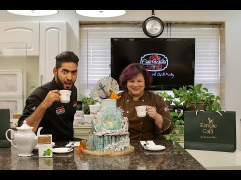 Cake World Tv Episode 1   How to make a beach theme cake   Chef Ali Mandhry   Chef Greeley