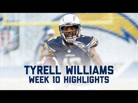 Tyrell Williams 125 Yards & 1 TD | Dolphins vs. Chargers | NFL Week 10 Player Highlights