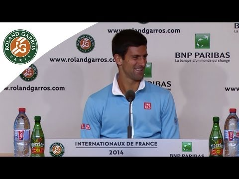 Press conference Novak Djokovic 2014 French Open QF