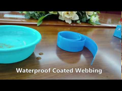 Waterproof and easy to clean test of coated nylon webbing