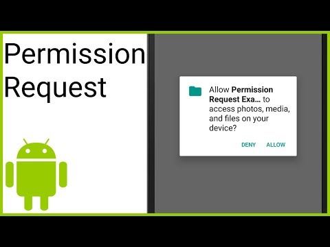 How to Request a Run Time Permission - Android Studio Tutorial - YouTube