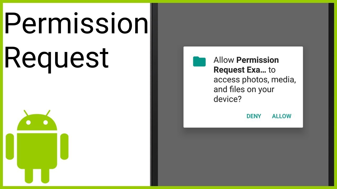 How to Request a Run Time Permission - Android Studio Tutorial