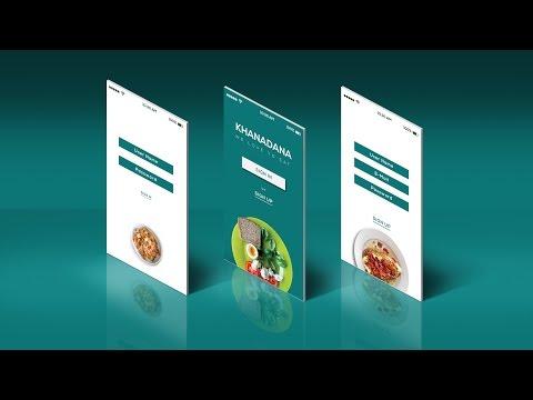 App Design | UI/UX | Adobe Illustrator CC | Tutorial (Food)