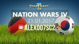 Nation Wars Ro4 - Германия vs Корея - StarCraft 2 LotV(Расписание трансляций и подписка на стримы: http://clever.press/streams Полуфинал Nation Wars по StarCraft 2: Legacy of the Void, матч сборн..., 2017-01-22T11:00:01.000Z)