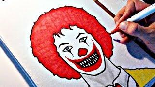 How To Draw an Evil Clown - RONALD McDONALD