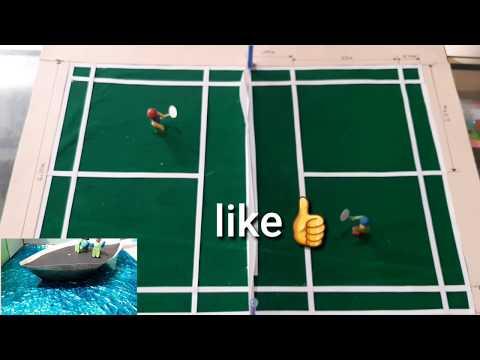 How to make badminton model || badminton court model || physical model