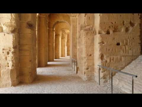 The Amphitheater at El Djem - A Roman Archaeological Site in Tunisia قصر الجم الروماني تونس
