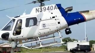 Spool Up and Take Off AS350 US Customs and Border Protection Helicopter