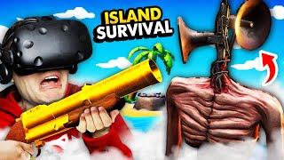Crafting Weapon To DESTROY SIREN HEAD On REMOTE ISLAND (Island Time VR Funny Gameplay)