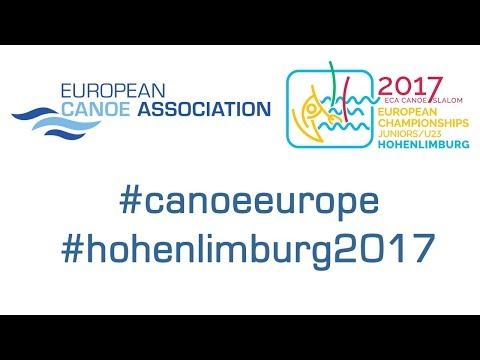 2017 ECA Junior&U23 Canoe Slalom European Championships - Sunday (Afternoon) – Even