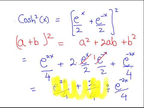 Hyperbolic Functions: Identity Proof (example 1)