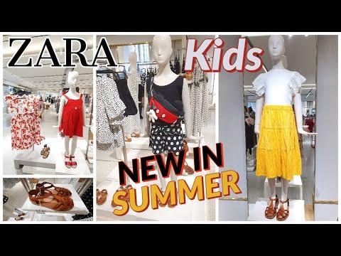 ZARA KIDS SUMMER NEW COLLECTION | NEW IN ZARA GIRLS FASHION | ZARA KIDS WALK THROUGH SHOPPING