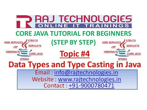 Core Java Tutorial for Beginners #4 | Data Types | Type Casting in Java