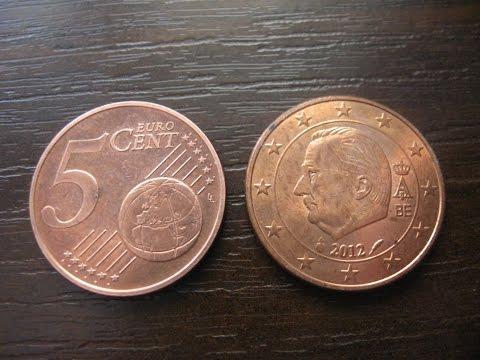 Coin 5 EURO CENT 2012  BE Belgium Numismatist  numismatics / 5 евро центов нумизматика