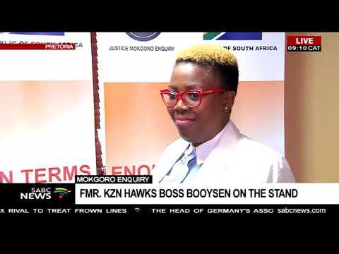 Mokgoro enquiry    Former KZN Hawks boss Booysen on the stand