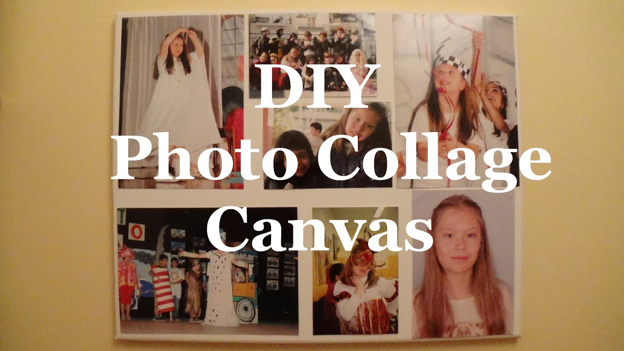 Diy Photo Collage Canvas Youtube