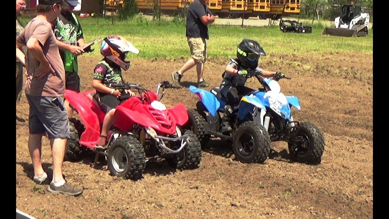 Kids Class ATV Racing At Northern Mud Outlaws Bridgeport