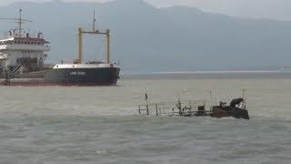 Khẩn trương trục vớt các tàu bị chìm tại vùng biển Quy Nhơn, Bình Định