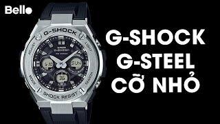 Casio G-Shock G-Steel cỡ nhỏ GST-S310-1A tông đen bạc!