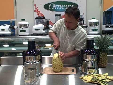 Omega Big Mouth Juicer BMJ330 and BMJ390 - Make Fresh Pineapple Juice