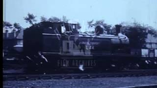 Metropolitan Line Railway steam locomotives.  Film 31230