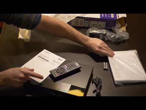 Unboxing Sony BDPS6700 4K Upscaling 3D Streaming Blu Ray Disc Player