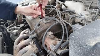 toyota Avensis 1. Плановое ТО замена свечей