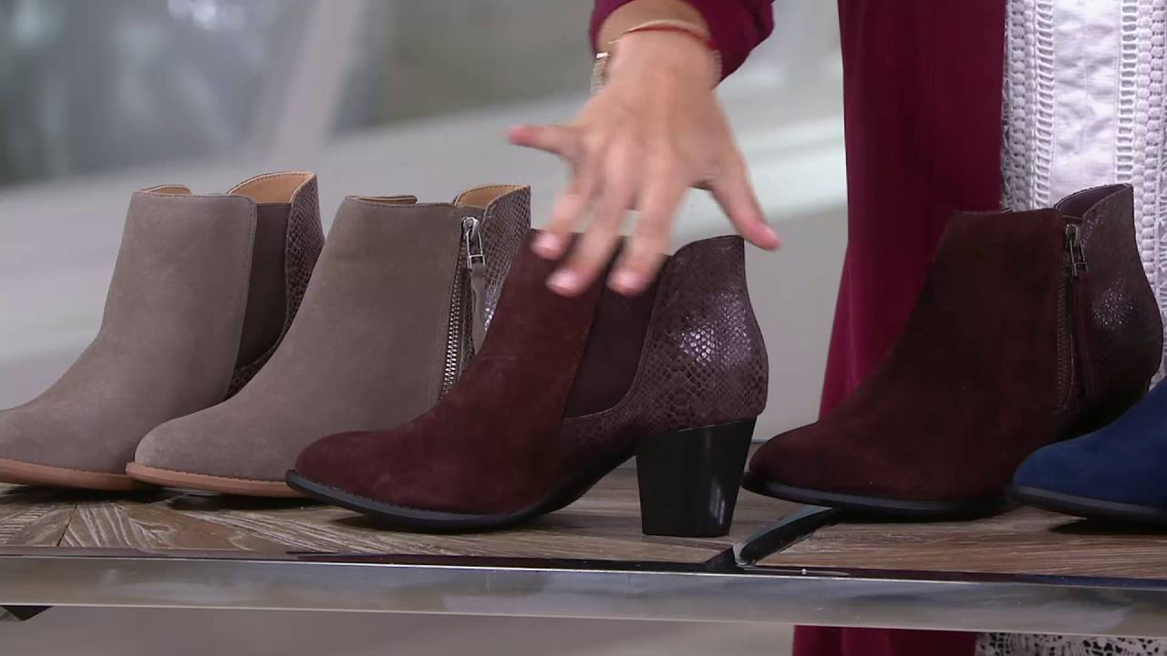 Vionic Orthotic Suede Ankle Boots