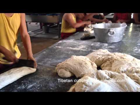 Monks Making Balep – Dividing Dough