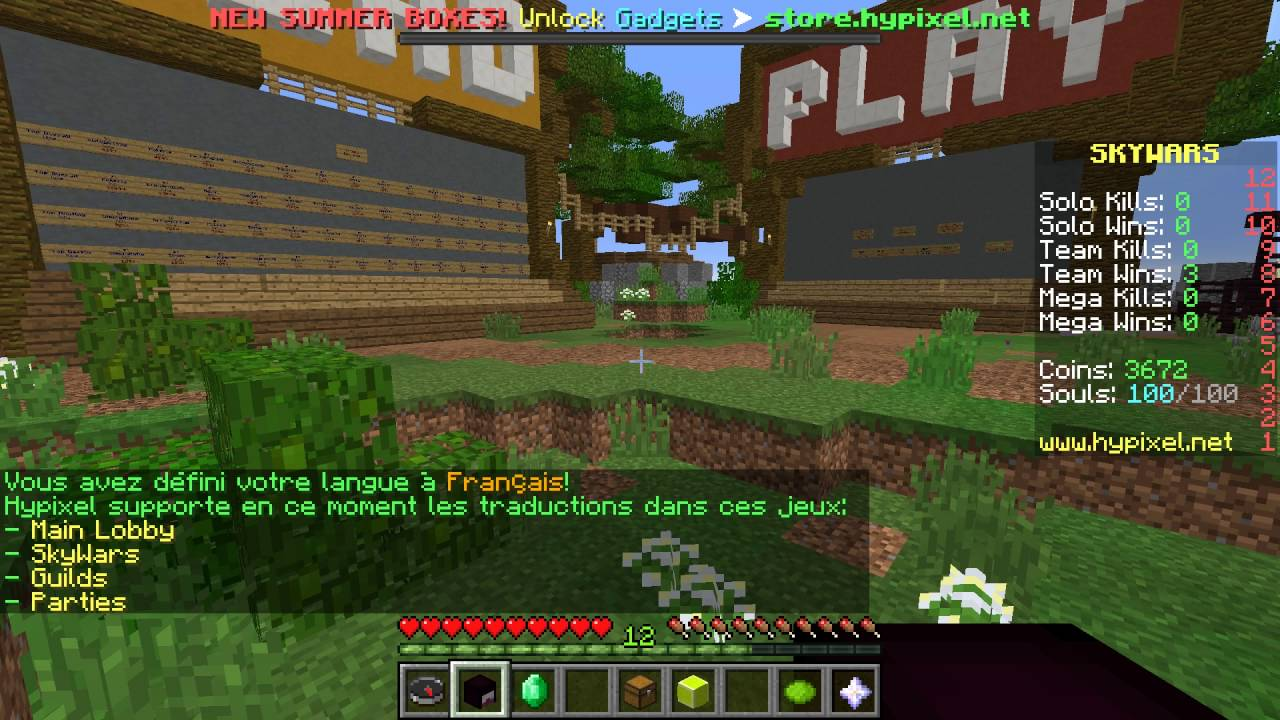 How to Change Your Language on Hypixel - Watch this short guide to find out how to change your language on the Hypixel Minecraft Server!  Link to original thread: https://hypixel.net/threads/french-la.