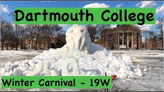 Winter Carnival at Dartmouth College  - Vlog - Polar Bear Plunge, Ice sculptures...
