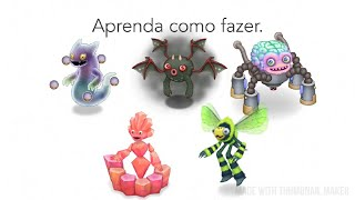 Como fazer Fantominho, Vampiro Ranzinza, Cerebrother, Jeode e humbug no My Singing Monsters.
