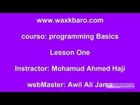1 Barashada Progamming - C sharp course: Definition of Programming