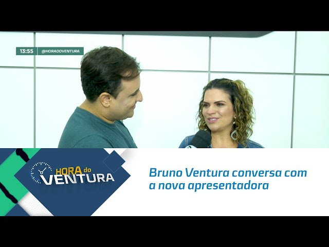 """Bruno Ventura conversa com a nova apresentadora do """"Mestre Confeiteiro"""" - Bloco 01"""