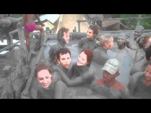 El Totumo mud bath woman volcano Cartagena, Colombia HD 2011
