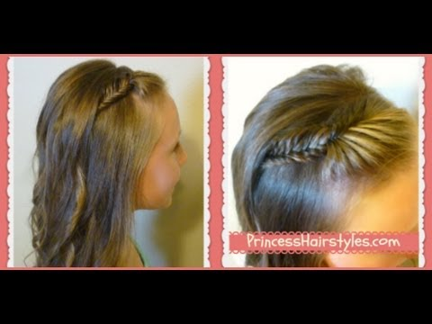 Picture Day Hairstyles French Fishtail Braid Bangs And Curls
